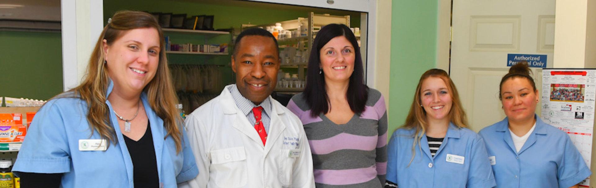 pharmacist showing her genuine smile